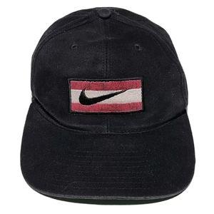 Vintage NIKE Velvety Swoosh Snapback Hat Box Logo